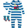 Frugi Bubbly Gift Set - Diver Blue Stripe