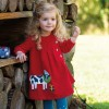 Frugi Cow Little Bonnie Button Dress
