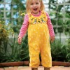 Frugi Finch Willow Cord Embroidered Dungarees