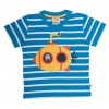 Frugi Little Polkerris Applique T-Shirt - Blue Breton/Sub