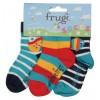Frugi Little Socks 3-Pack - Fish/Boat
