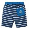 Frugi Dark Marine Blue Stripy Shorts