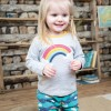 Frugi Rainbow Button Applique Top