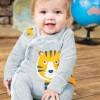 Frugi Tiger Stevie Swoop Babygrow