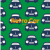 Maxomorra Retro Car Rib Pants