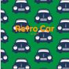Maxomorra Retro Car Dungarees