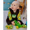 Maxomorra Embroidered Frog Dungarees