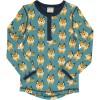 Maxomorra Lively Lynx LS Slim Button Top
