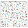 Piccalilly Alphabet Print Muslin Swaddle