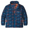 Patagonia Down Sweater Jacket - Tamar Tiger Geo: Port Blue