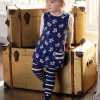 Piccalilly Blue & White Crawler Tights