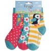 Frugi Susie Socks 3 Pack - Paradise Birds