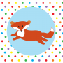 Babipur Spotty Fox Greetings Card