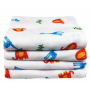 ImseVimse Small Zoo Print Muslin Squares 70 x 70