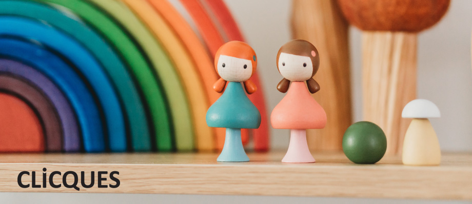 clicques wooden magnetic toy peg dolls