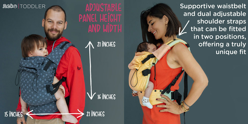 Neko Switch Baby and Toddler Carrier Info Graphic